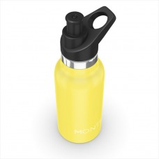 Nerūsējošā tērauda ūdens pudele mini Montii Yellow