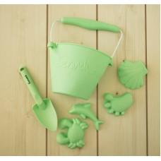Silikona smilts rotaļlietu komplekts Scrunch Green